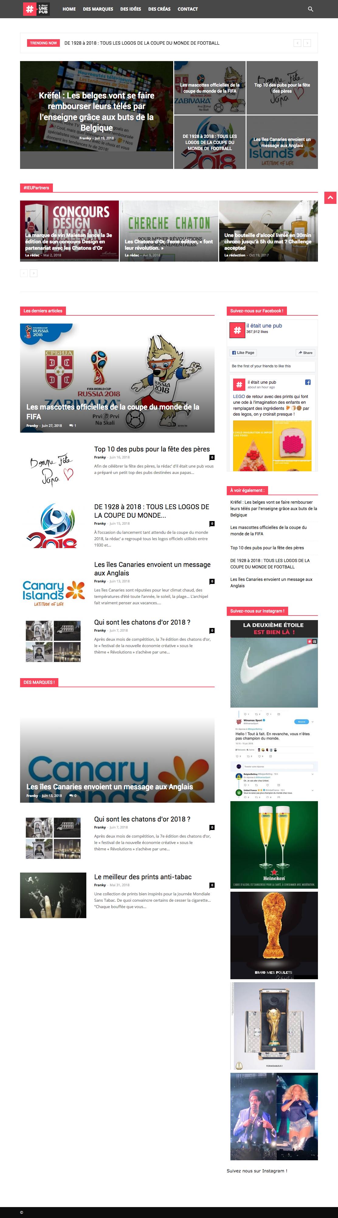 Sites de veille publicitaires et Opérations Marketing   Régis Enguehard 432b3558acf